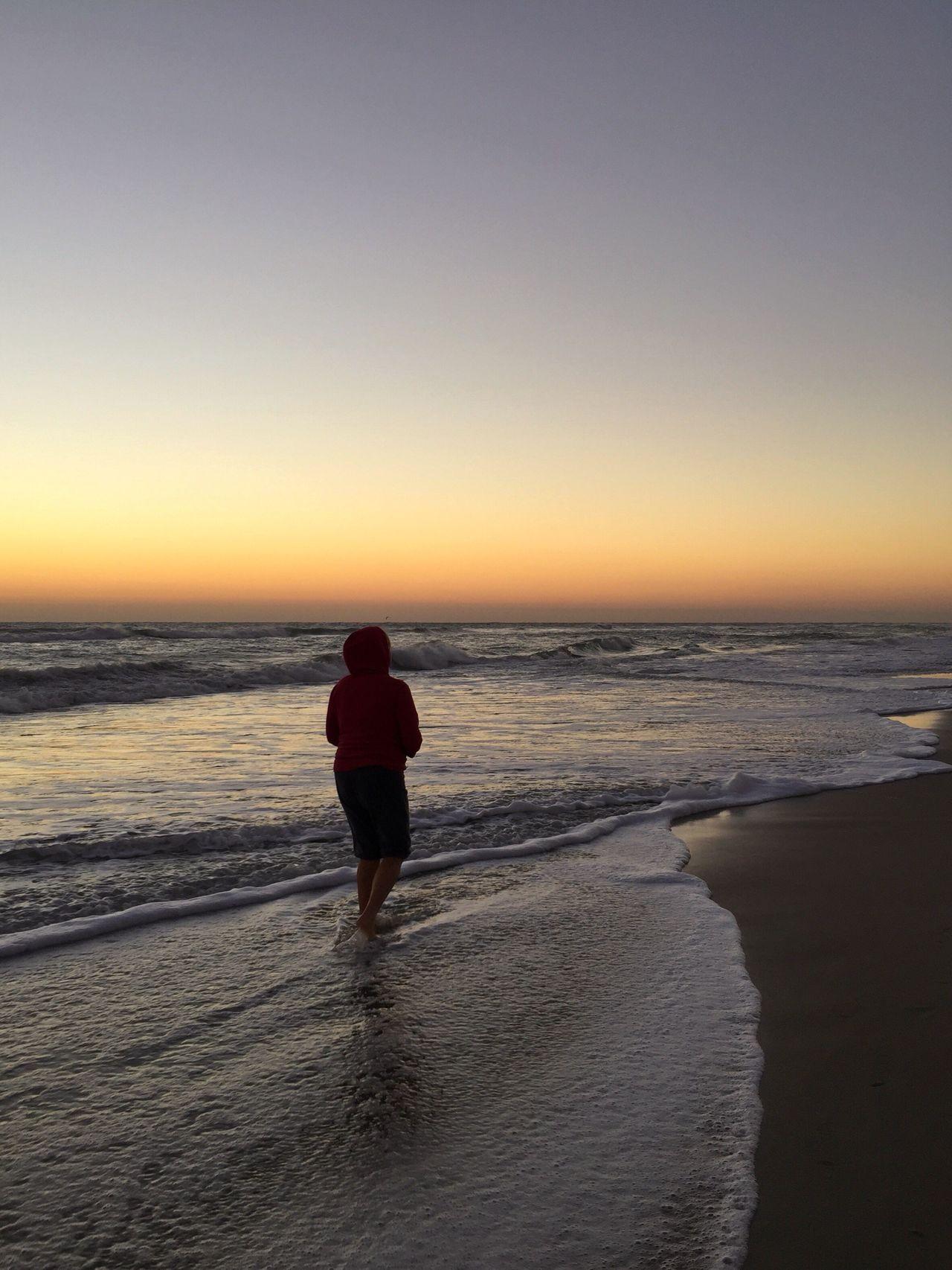 Chilly dawn walker Sunrise - Dawn Melbourne Beach, FL Beach Beach Walking Leisure Activity Lifestyles