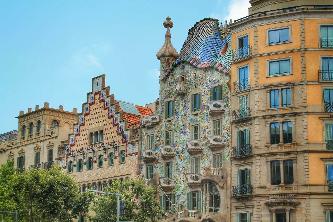 Architecture Art Balcony Barcelona Building Building Exterior Built Structure Casa Batllo Catalan Catalonia Catalunya City Gaudi Historical Building History Low Angle View Modern Architecture No People Outdoors Sightseeing SPAIN Street Tourism Travel Destinations Window