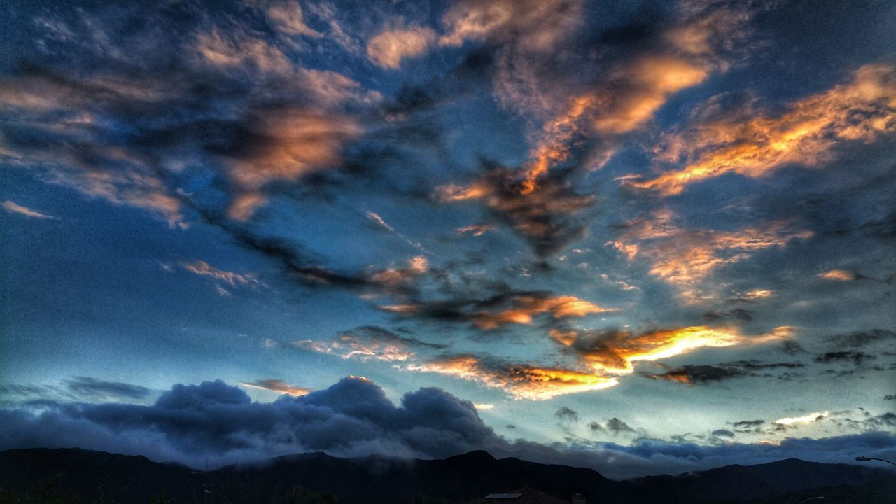 Sky No People Sunset Cloud - Sky Nature Beauty In Nature Scenics Mountain Tranquility Outdoors Mountain Range Mountain And Clouds My View Winter Days In At Home  Love The Colors Moody Moodysky