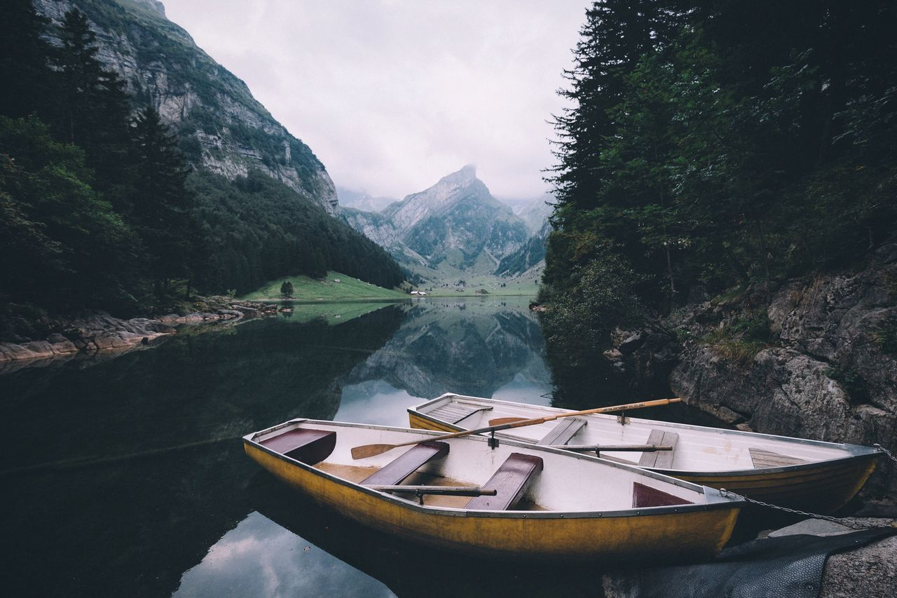 Beautiful stock photos of fall,  Beauty In Nature,  Boat,  Calm,  Day