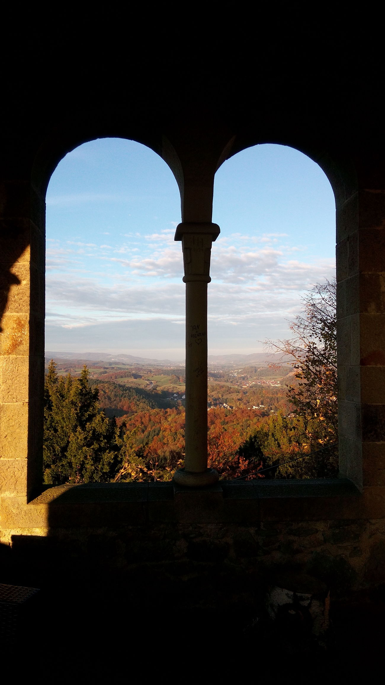 Weinheim Autumn🍁🍁🍁 Autumn Autumn Colors Summerlight Mountain Castle View From Above Landscape Nature