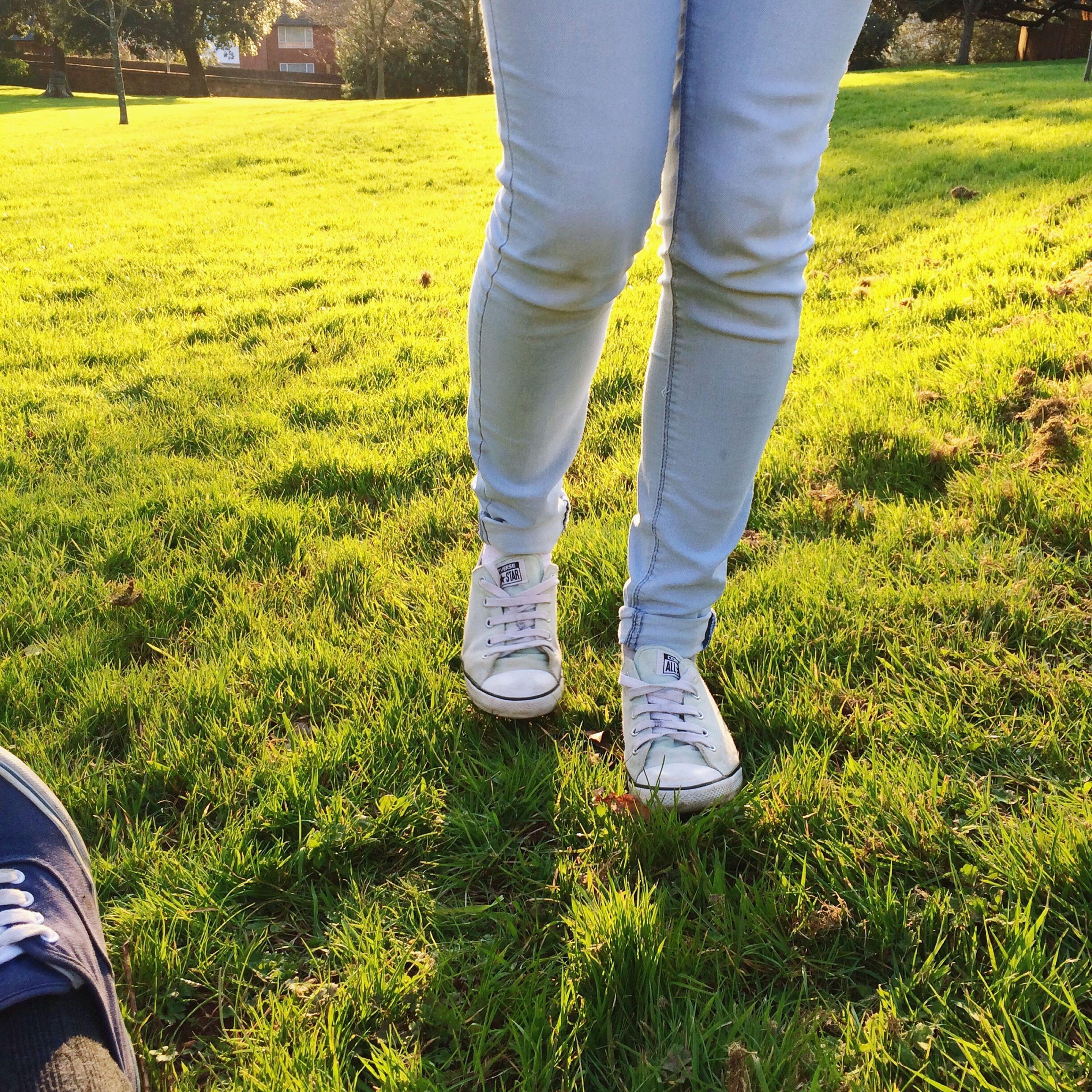 just some legs.. Legs Cousin Sunset Sunny Day Grass Green Vans Quite Random Relaxing