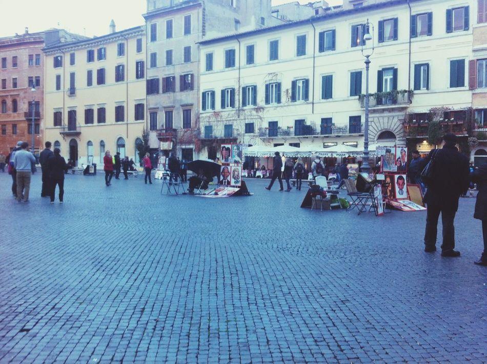 Piazza Navona Roma❤️ Streetartist Caricature