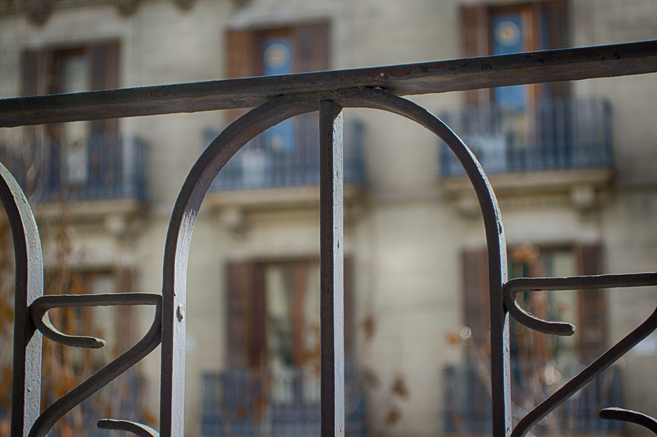 Blur Building Exterior City Close-up Curled Up Day Fence Focus On Foreground Iron Metal No People Old Outdoors Rust SPAIN Town Vintage
