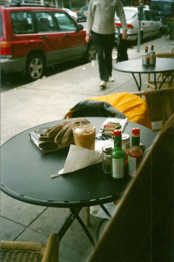 Streetphotography Street Cafe Still Life Coffee Snapshots Of Life A Moment Of Zen... Peace Solo Breakfast Solitude Hot Sauce Cafe Cafe Society