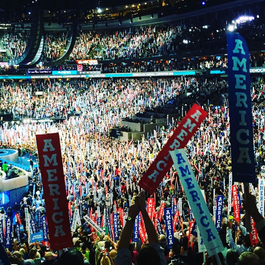 DNC night 2 - Tuesday, July 26th 2016 Convention Dncinphl DNC2016 DNC Signs Convention Signs America
