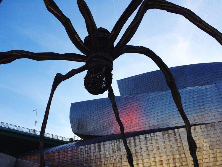 Louise Bourgeois LouiseBourgeois Bilbao Guggenheim Art ArtWork Artist Spider Bluesky Lastsunday December