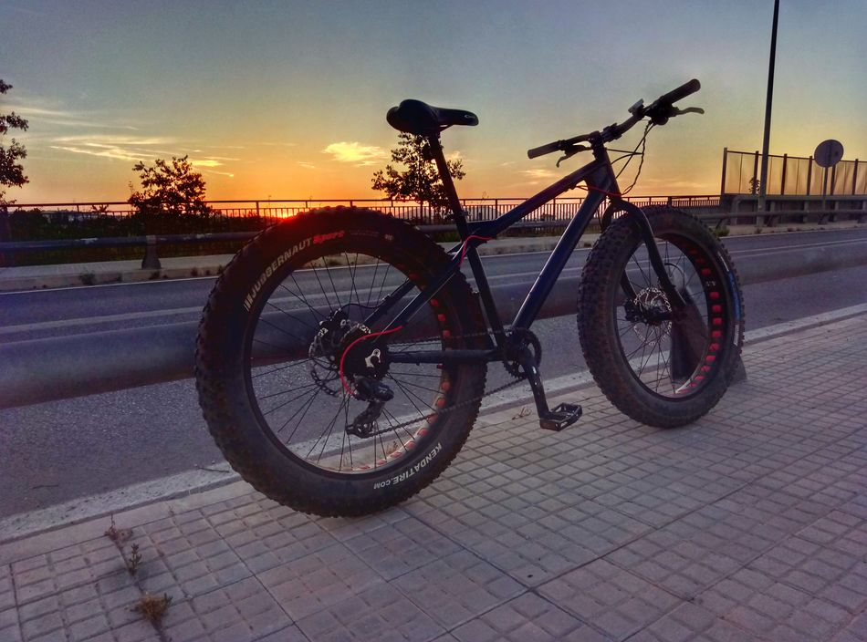 Bicycle Transportation Mode Of Transport Outdoors Silhouette Cycling No People Sky Mallorca Smartphonephotography Binissalem Mallorcaphotographer Smartphone Photographer Silhouette Fat Bike Fatbike Fatbikes