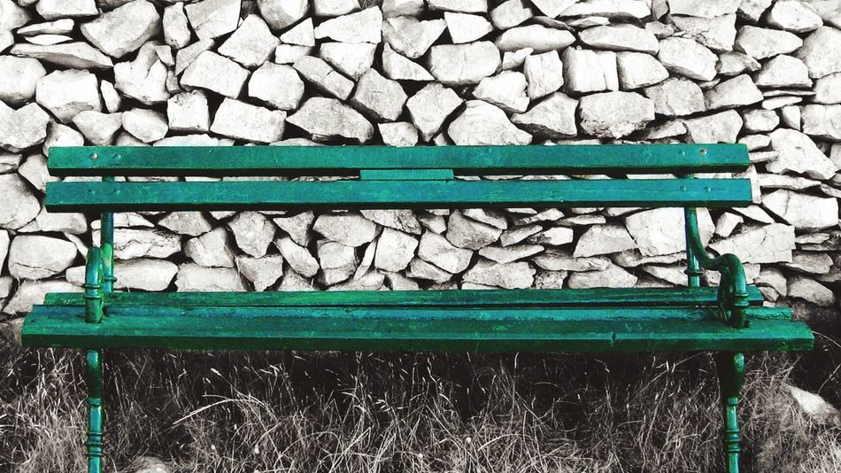 Green Color Green Bench Stone Wall Old Path Islandlife Taking A Break Blackandwhite Color Splash Dirt Road Sutivan Croatia Photography Favourite Places Favourite View Relaxing