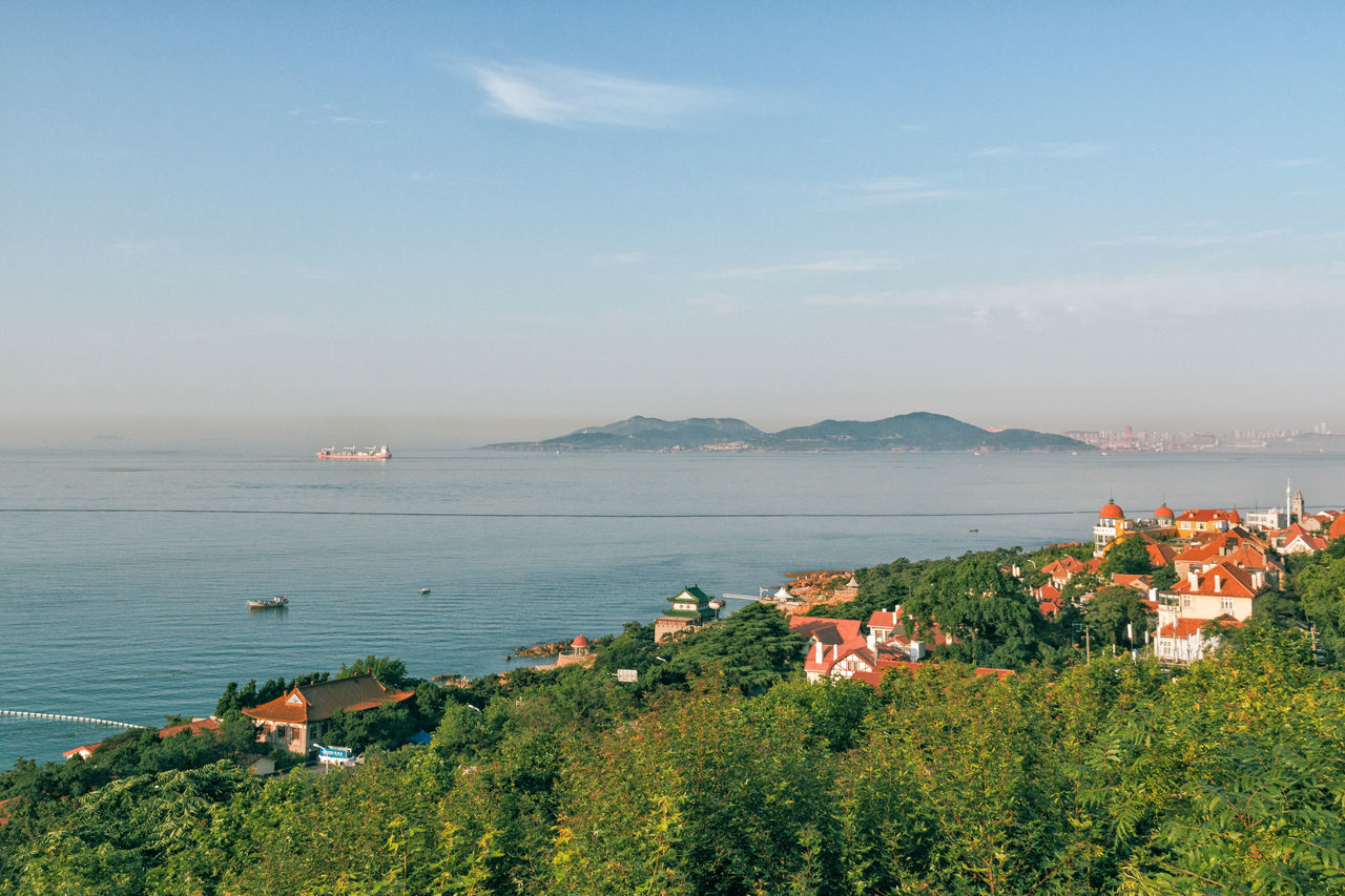 Morning of Qingdao Building Day Horizon Over Water Island No People Outdoors Plant Sea Seashore Sky Tree Water