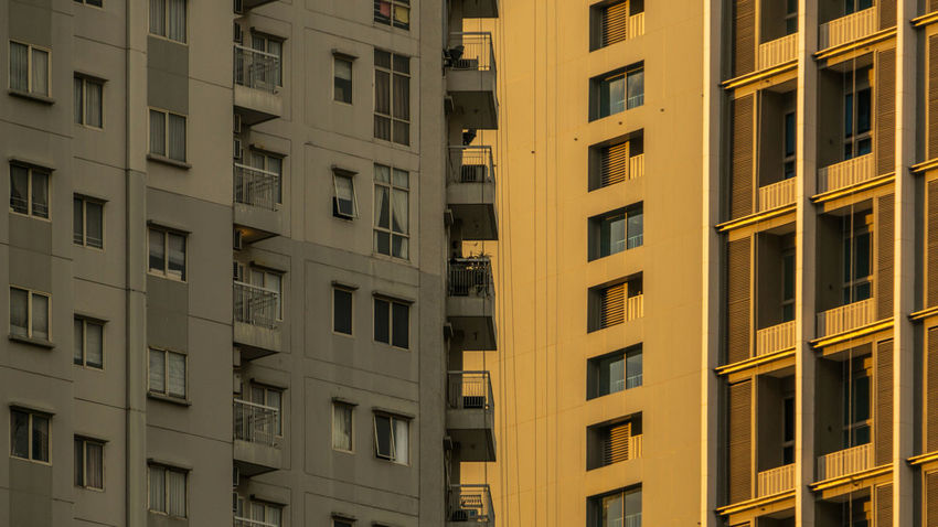 Apartment's balconies facing another apartment's windows City Exterior Apartments Balconies Balcony Block Building City Living Concrete Concrete Jungle Crowded Face To Face Glass High Rise Building Pattern Residential Building Structure Tall Urban Urban Life Window Windows