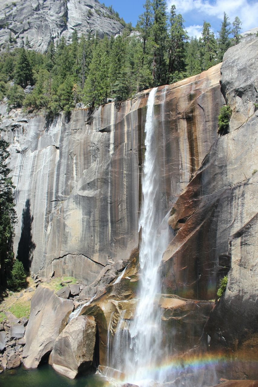Idyllic View Of Yosemite Falls In National Park
