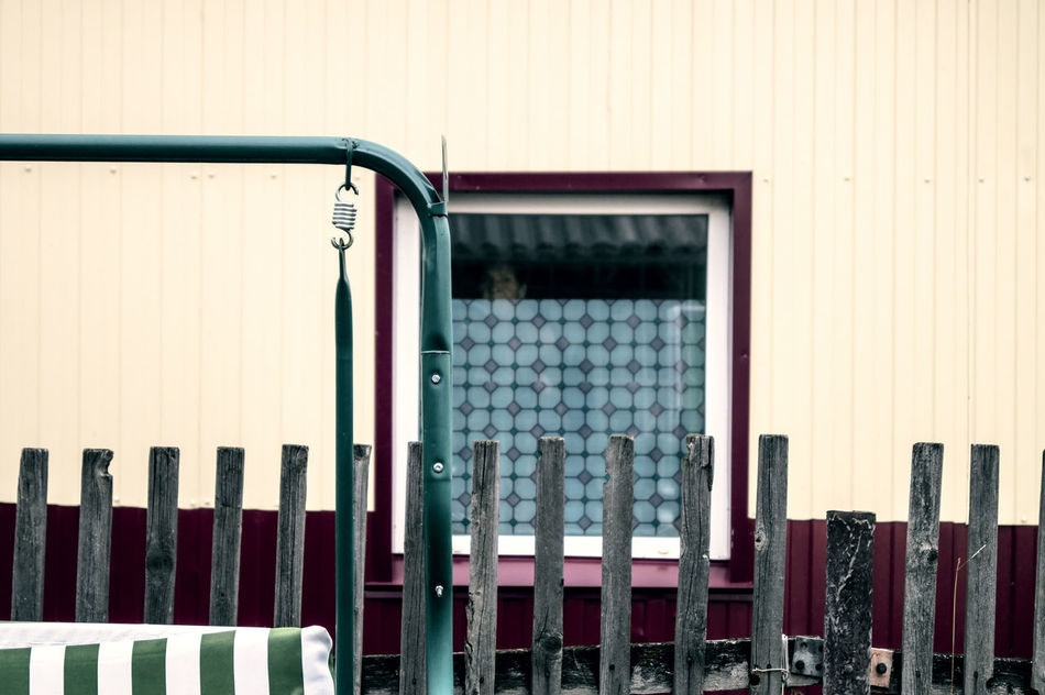 Face Fence House Metal Pattern Peep Peeping Peeping Out Pry Prying Window Wood