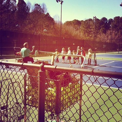 Tennis practice Funinthesun  Puresunshine