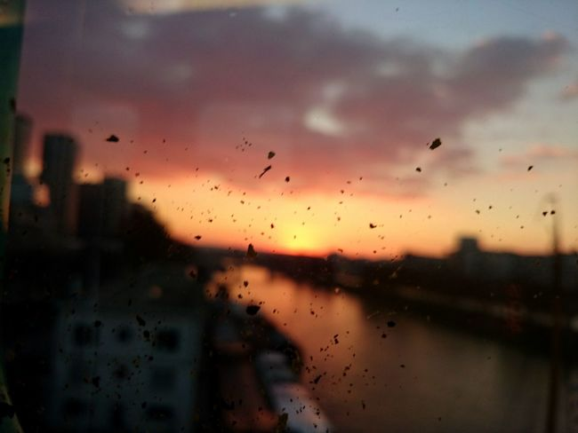Paris Metro Sunset From The Train Window Metro Line 6