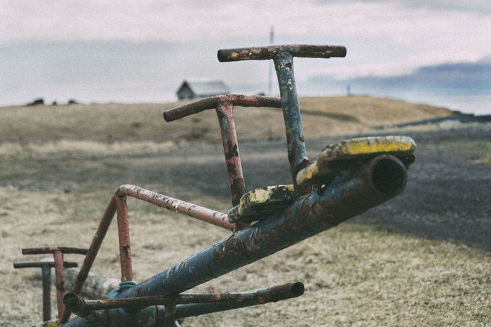 Close-up Deterioration EyeEm Best Shots Field Focus On Foreground Iceland Iceland Memories Iceland_collection Left Behind Left Behind To Nature Metallic Nostalgia Old Rust Seesaw Selective Focus Snapshot The Leftovers Showcase June