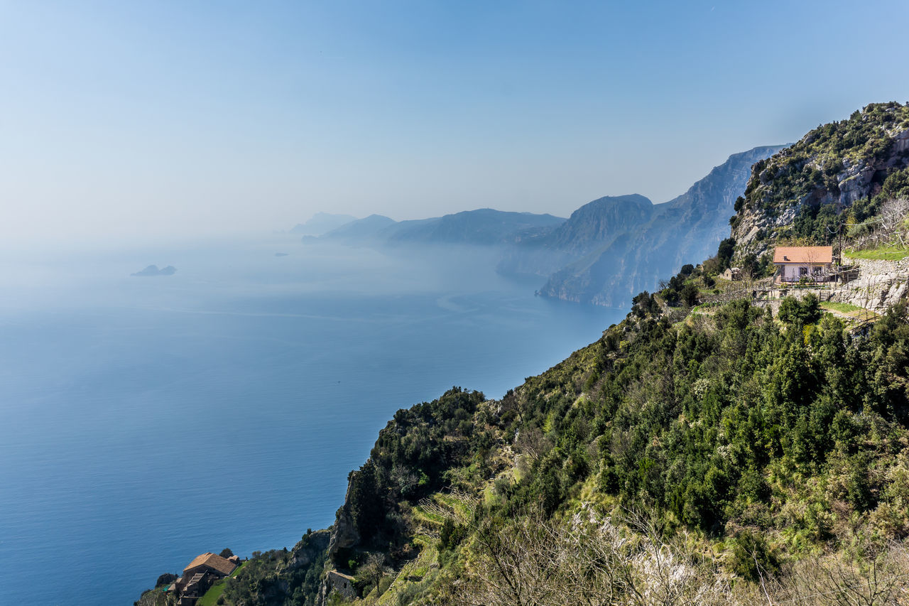 We decided to make this really nice hike in Italy called the path of god Beauty In Nature Blue Clear Sky Cliff Day Landscape Mountain Mountain Range Nature No People Outdoors Scenics Sea Sky Tranquil Scene Tranquility Tree Water