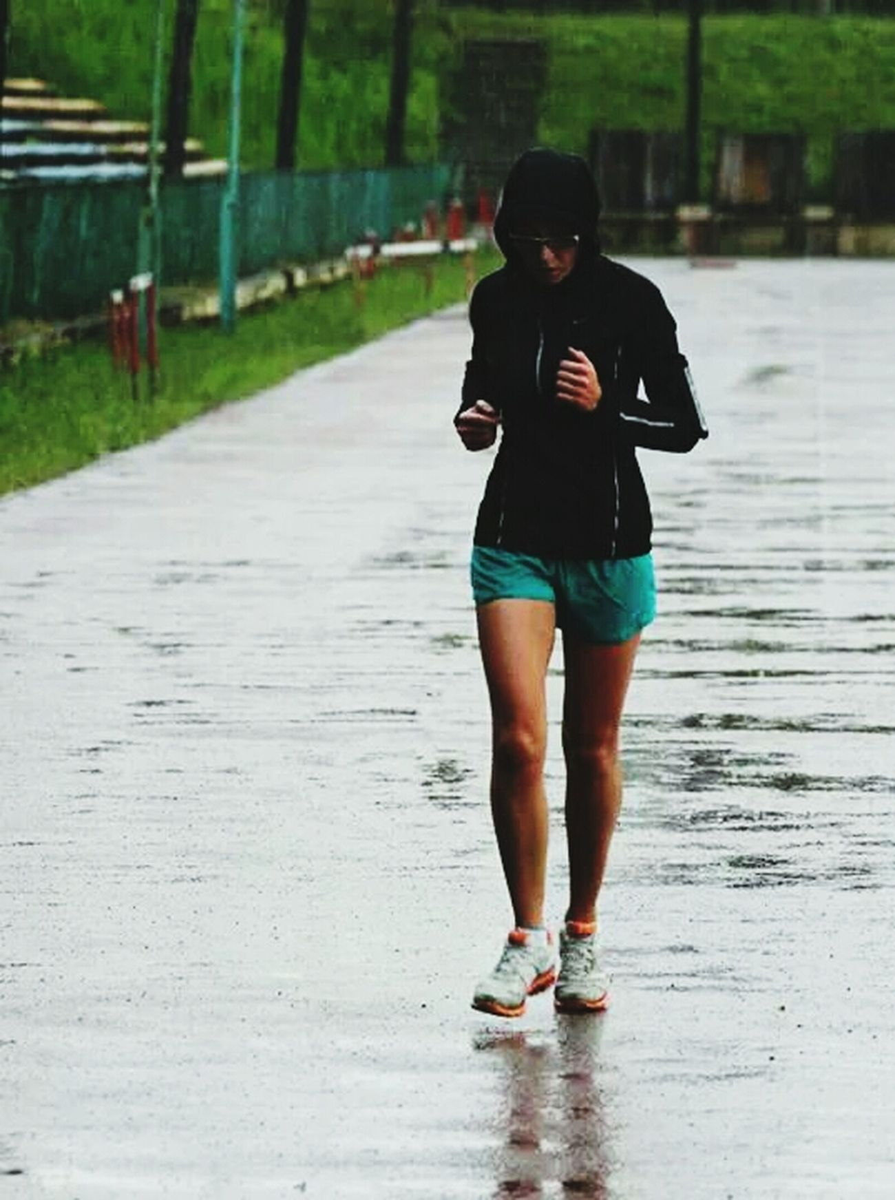 When It's Raining Jogging Time Heavy Workout