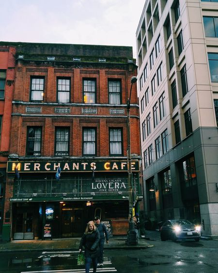 Oldest bar in Seattle Seattle Seattlephotographer SeattleLife Streetphotography Merchant Storefront Architecture Architecture_collection Overcastbutbeautiful Bar Cool Sign