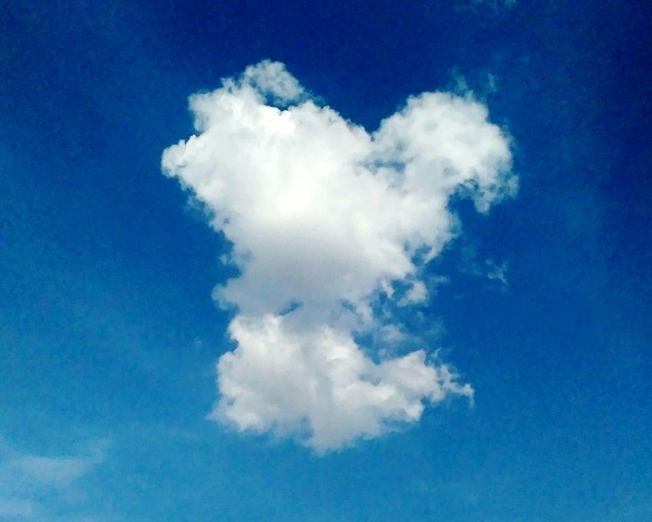 Glitch Heart ❤ Shape Clouds Blue Sky Likeforlike Like4like Njoy Life