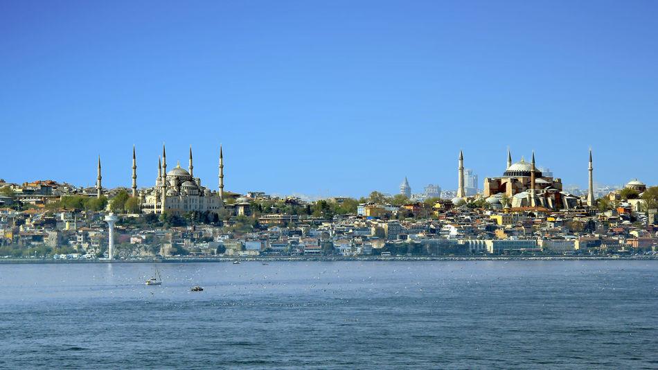 Aghiasofia Blue Mosque Bosphorus City Istanbul Turkey Mosquée Bleue Sainte-sophie Topkapi Travel Destinations