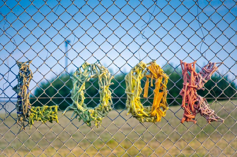 Beautiful stock photos of text, Art, Art And Craft, Capital Letter, Chainlink Fence