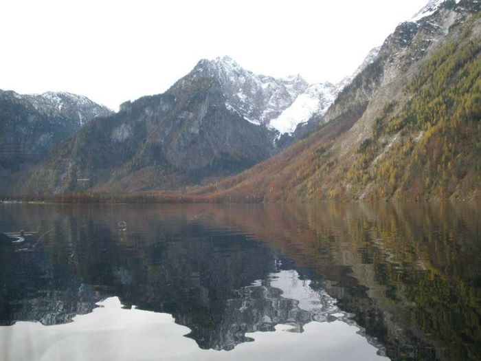 Late autumn scenery at Königssee Crystal Clear Hanging Out Königssee, Bavaria, Mountain Lake, The Alps Mirror Nature Tranquil Scene Tranquility Travel Water Reflections Winter Holiday