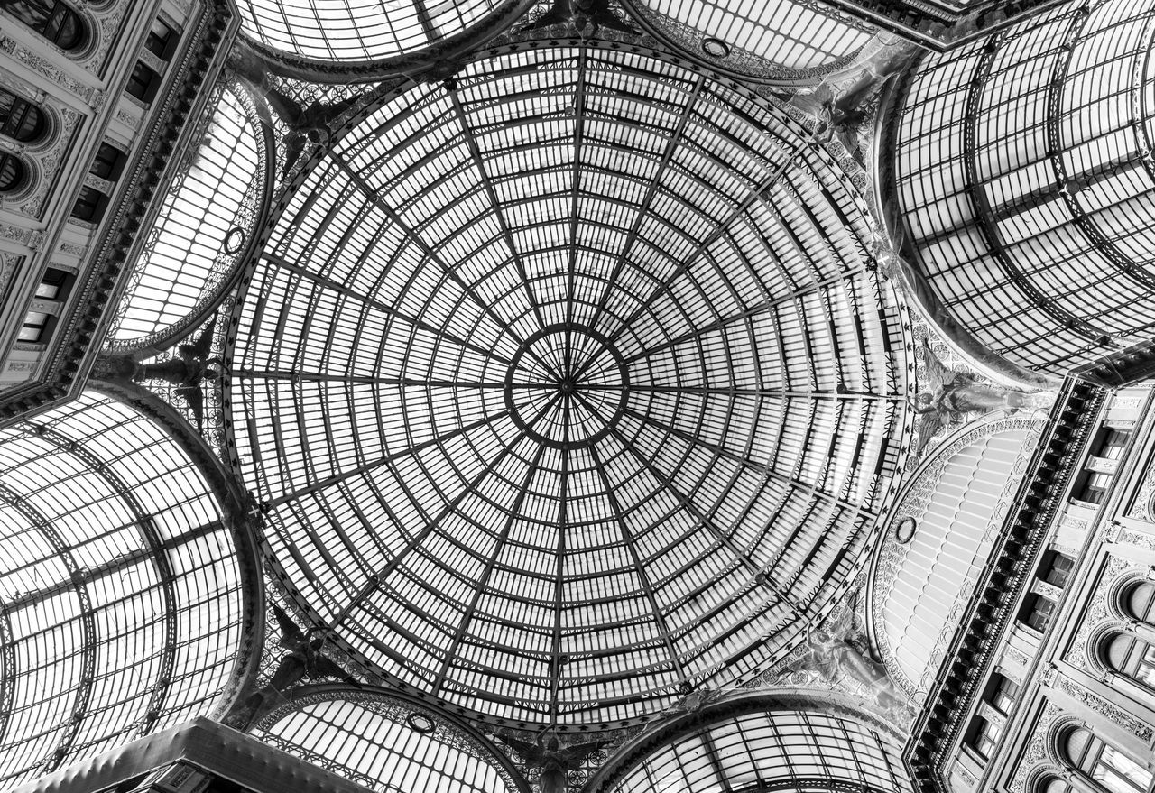 Clockwise. Ceiling Architecture Pattern Low Angle View Built Structure Indoors  Architectural Feature Skylight Travel Destinations Tourism Dome Architecture And Art Cupola Architectural Design Day Naples Napoli Italia Italy Bella Italia Lookingup Travel Traveling Glass