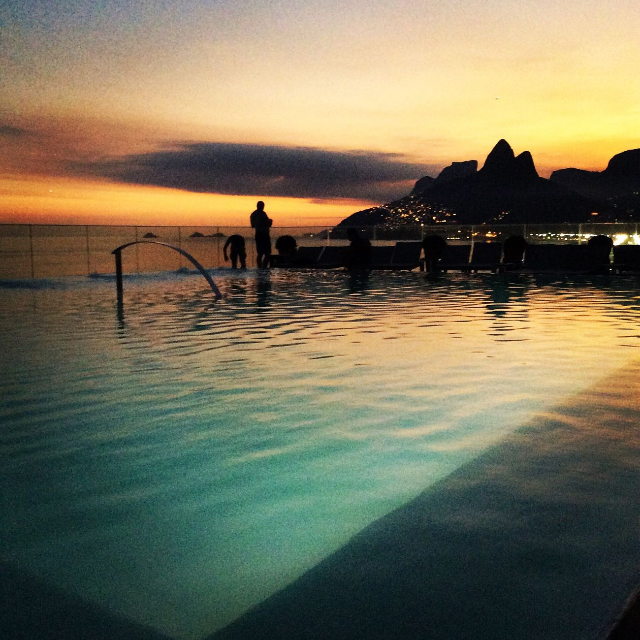 Sunset Rio De Janeiro is always pretty special over looking Ipanema Beach
