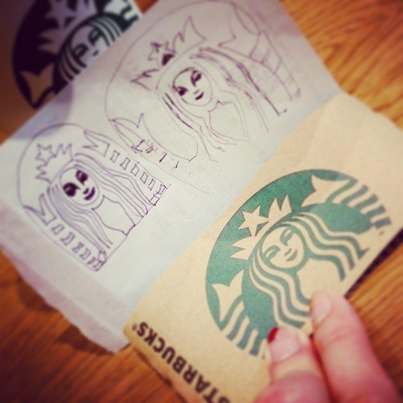 STARBUCKSなんば御堂筋グランドヒル店で再び画伯誕生 2015年バージョン(笑) しかし画伯は途中で描く気力が失せてしまう(笑) 2015年もよろしくね画伯~♪ Starbucks なんば御堂筋グランドヒル店 カフェラテ 画伯 Art これはこれでart 落書き