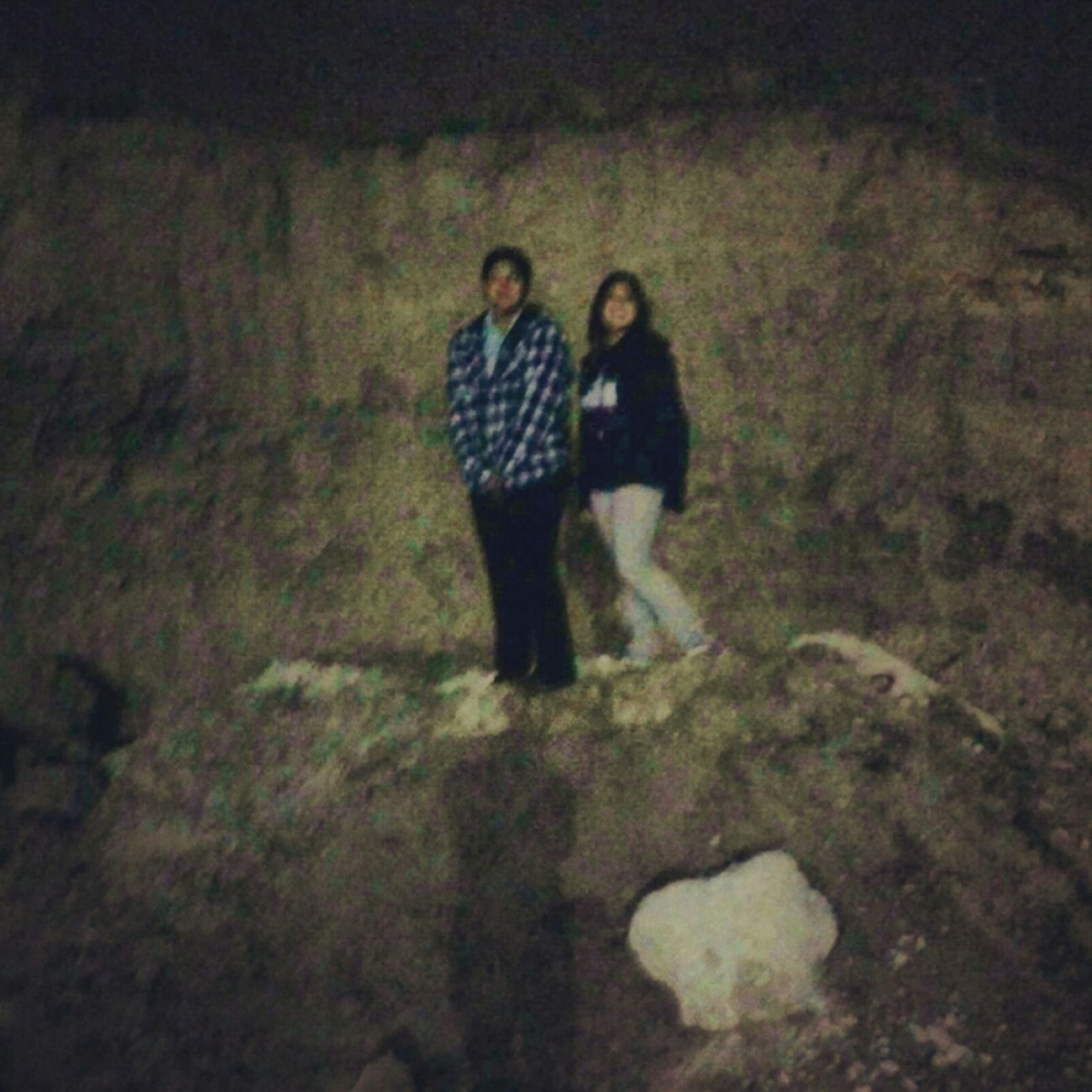 My Sister And I Climbing Rocks At Doss Park