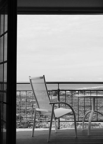 Black And White Beach Chair Dunes Enjoying Life Exterior Design Kampen Nature Northsea Railing Sea Sky Sky And Clouds Sylt Table Take Your Place Taking Photos Travel Miles Away Water Wave Window Wine Moments Environment Welcome To Black