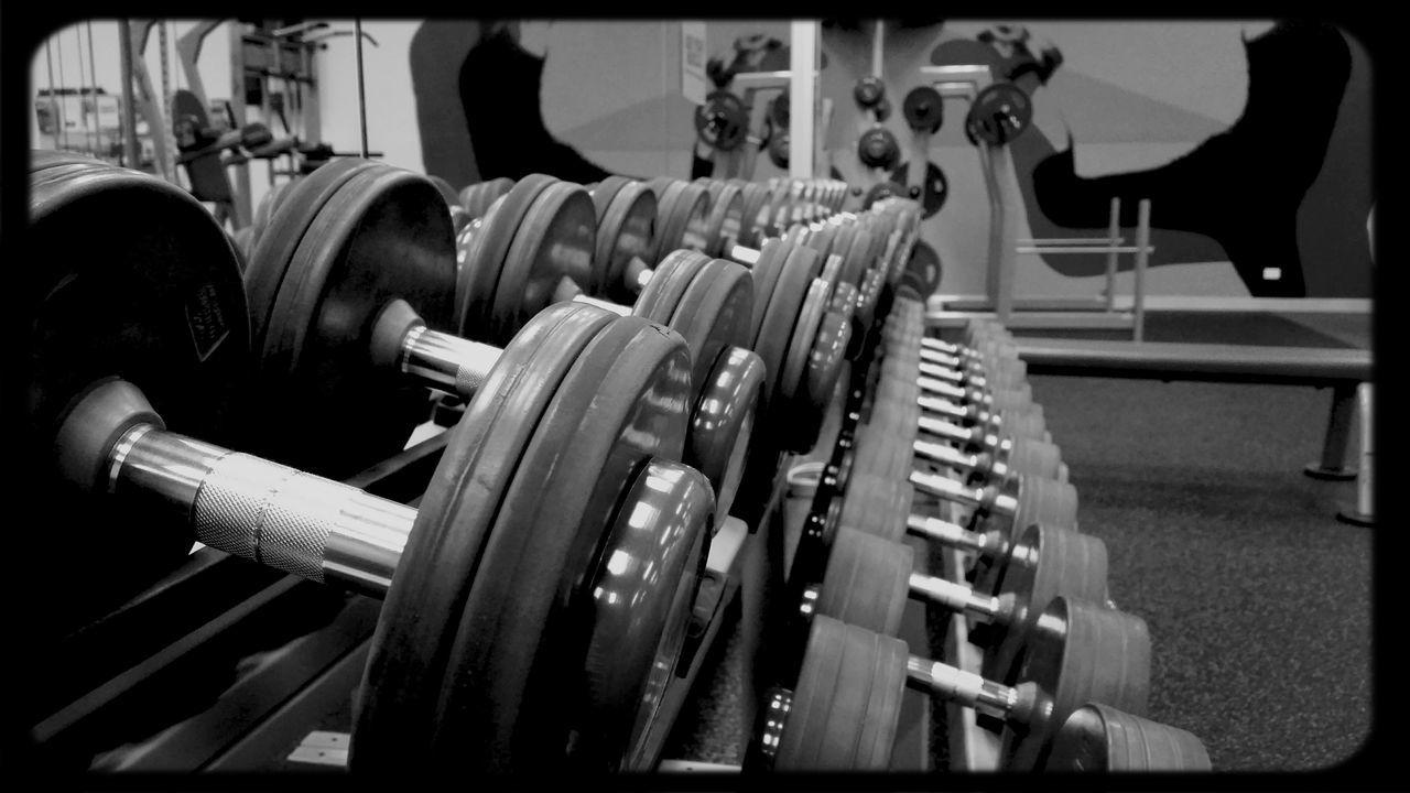 Enjoying Life Gym Time Good Morning Black & White