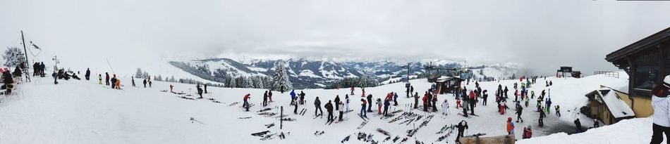 Day one ... Skiing Saint Gervais Panorama