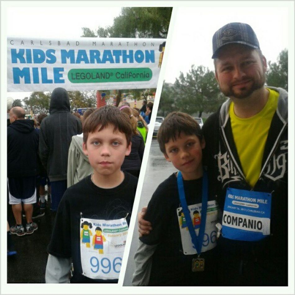 Legoland Marathonmile Gavin's second race! His first Finishermedal Chyeah boom