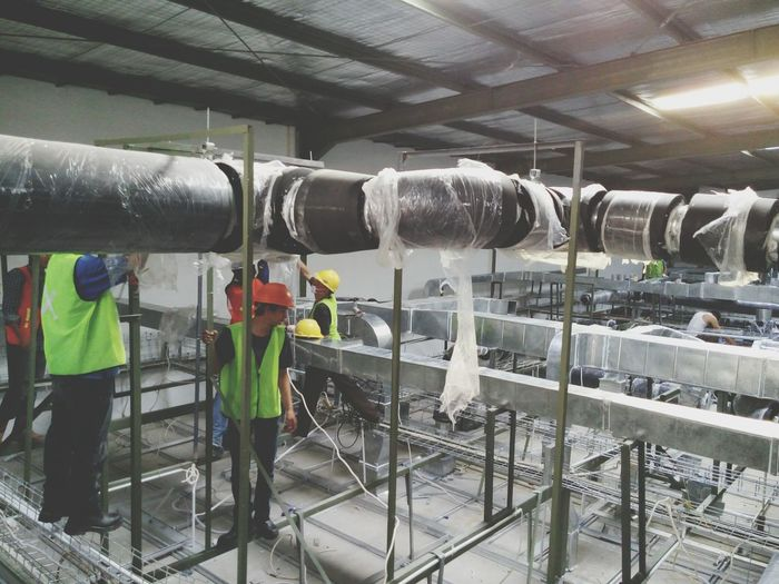 Ducting test leakage Construction Construction Site Ducting Building