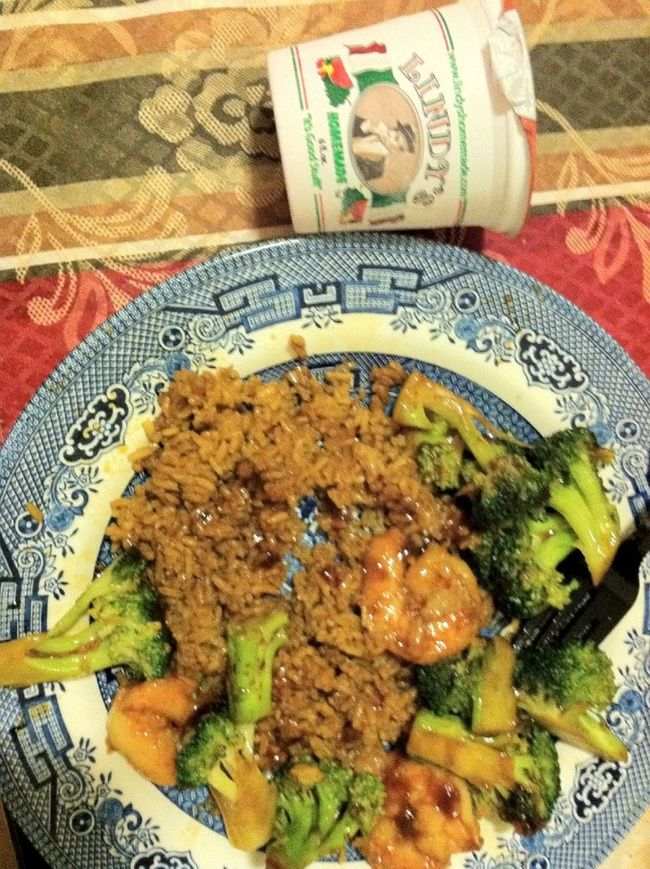#Lastnight #Dinner #Shrimp #Broccoli #Fried Rice