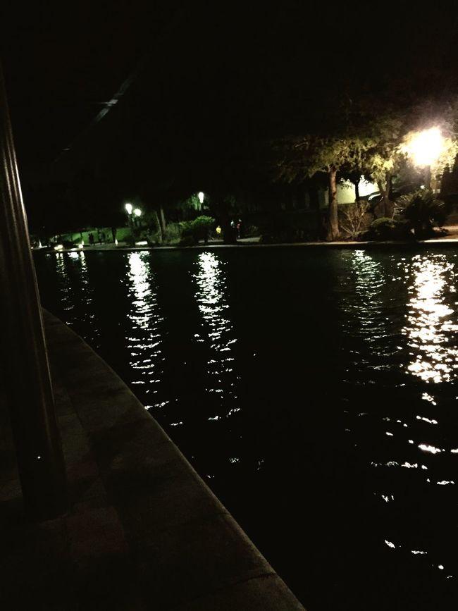 Watter Reflection City Lights At Night