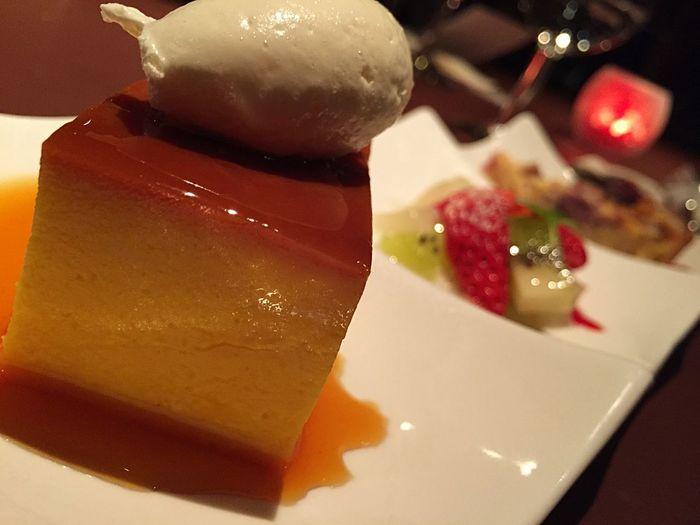 pumpkin pudding? Yum Yummy♡ X'mas Dinner おなかいっぱい( ^ω^ )
