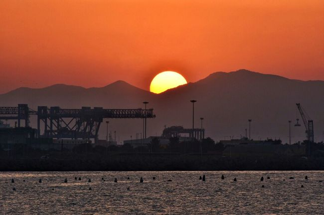 Check This Out Hello World Taking Photos Enjoying Life Sea Sunset Cagliari Cielo Mare Water Reflections Sky And Clouds Check This Out Sardinia Sardegna Italy  Cagliari, Sardinia Cagliari Urban City Sun Sunset