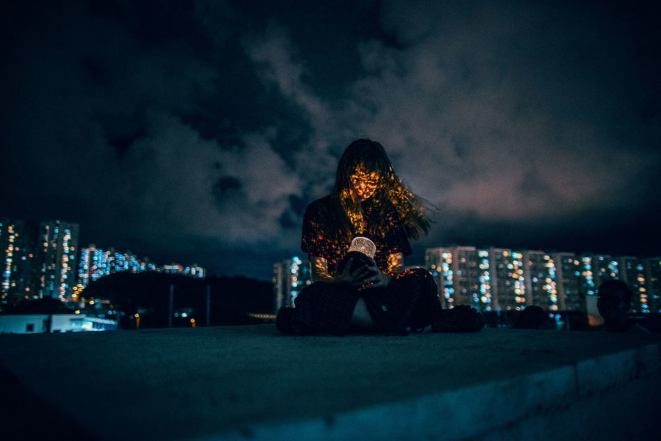 City City Life City Lights Creative Light And Shadow Night One Person People Portrait Real People Welcome To Black Break The Mold