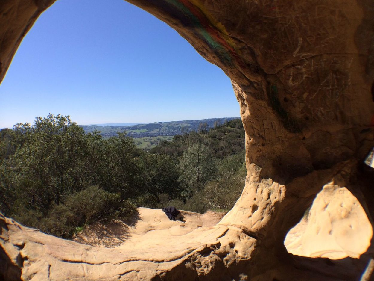 In a wind cave in Rock City on Mt. Diablo. Nature Cave Nice Views Hiking