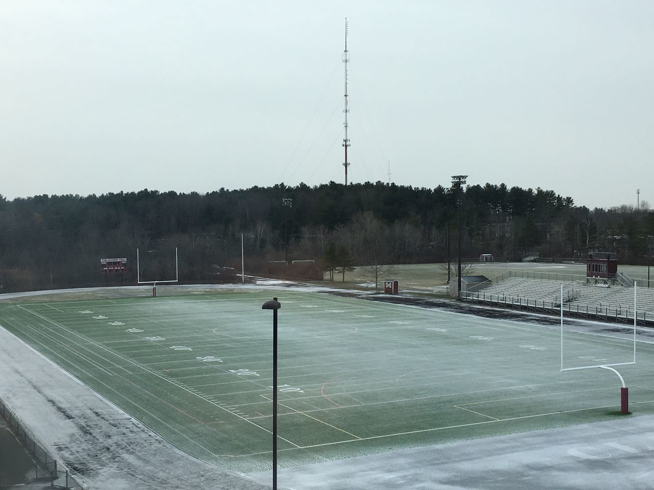 Showcase: January Snow In January Snow Football Field