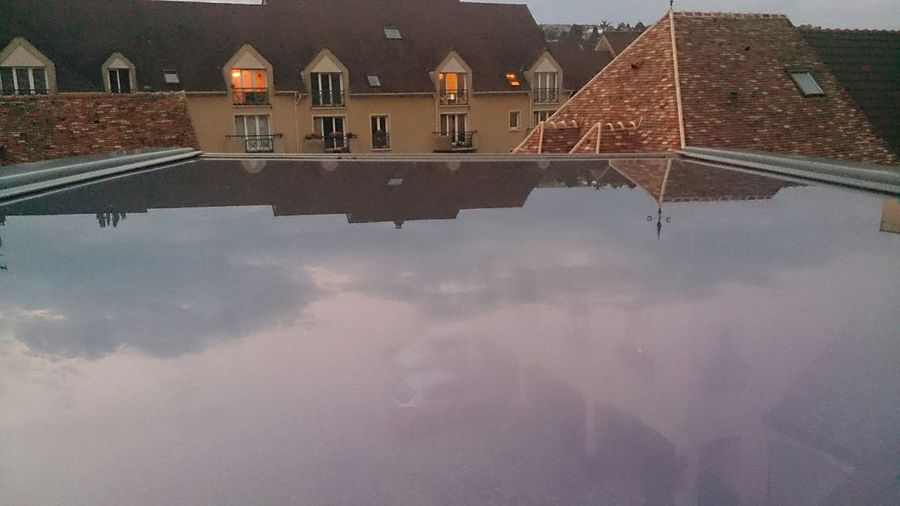 Taking Photos From My Window Sky Reflection On My Window