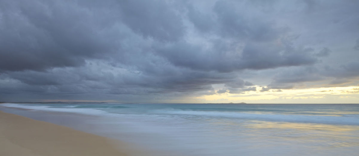 Those Clouds Beach, Ocean, Sand Beauty In Nature Day Horizon Over Water Nature No People Outdoors Scenics Seascape, Calm, Cloudy Simplicity Water