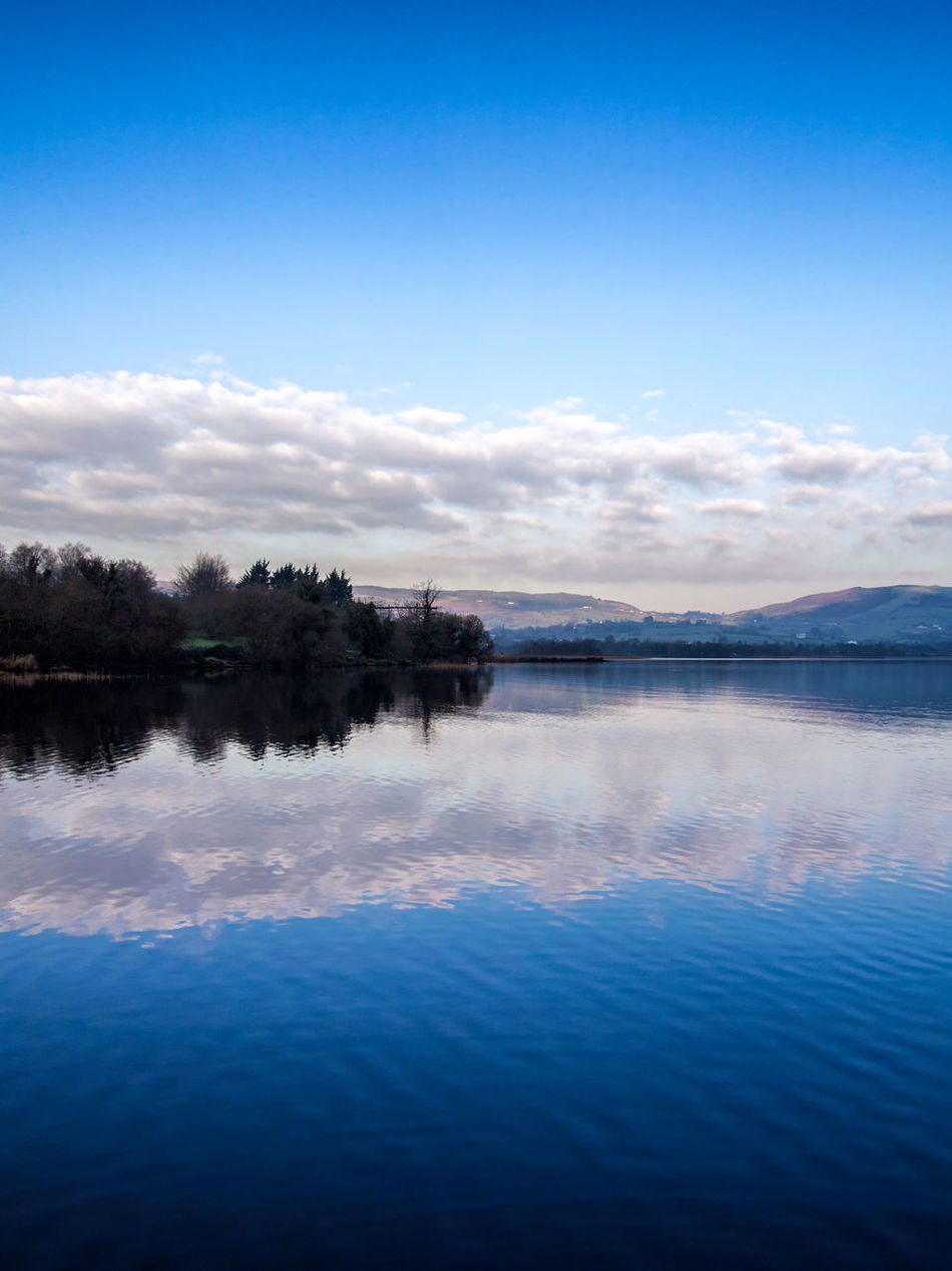 Lough Derg Ireland Reflection Blue Water Nature Cloud - Sky Lake Scenics Tranquility No People Outdoors Beauty In Nature Landscape Landscapes Lough Reflection Lake Tree Sky Growth Day Lightroom & Nik