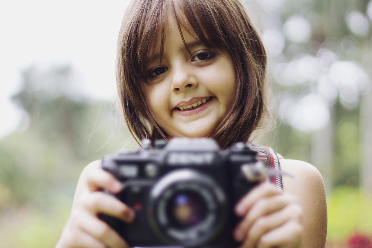Beautiful stock photos of millennials, Brazil, Brown Hair, Camera, Childhood
