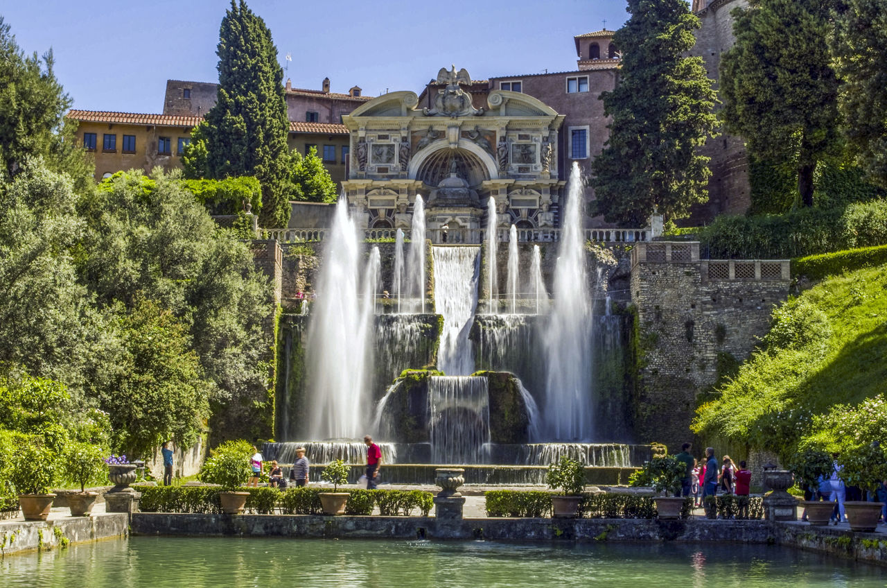 Architecture Beauty In Nature Building Exterior Built Structure Culture Day EyeEm Best Shots EyeEm Gallery Fountain History Italy Nature Sky Summer Tourism Tourist Destination Travel Travel Destinations Tree Vacations Villa D'Este Villa D'Este Tivoli Water Waterfall Waterfront