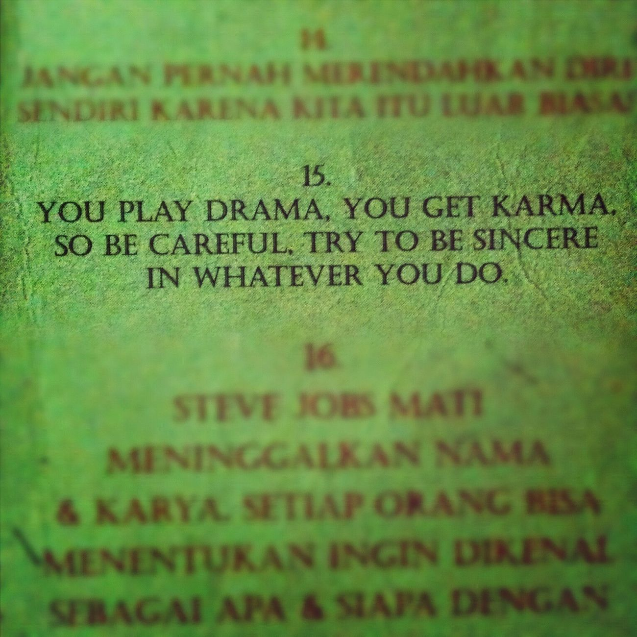 You Play Drama, You Get Karma