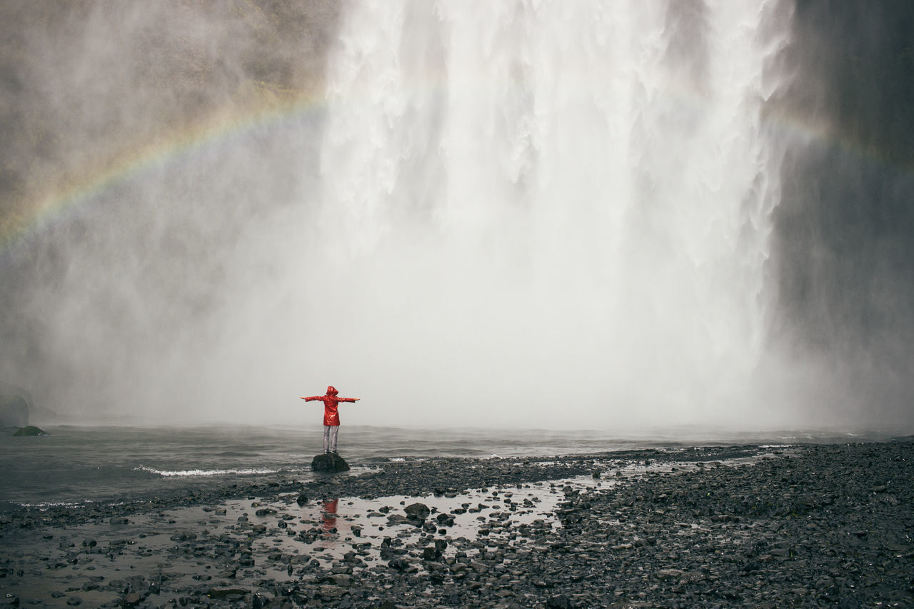 Beautiful stock photos of wasserfall,  Day,  Distant,  Flowing Water,  Fog